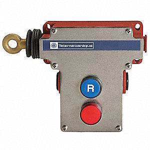 Emergency Cable Pull Switch, 10A Thermal Amperage, Contact Form: 2NC/2NO
