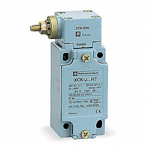 Heavy Duty Limit Switch, 600VAC/VDC Voltage Rating, 10 Amps, Side Actuator Location