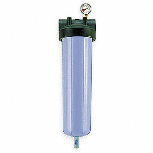 "1"" (F)NPT Polypropylene Bag Filter Housing, Side Outlet, 40 gpm"