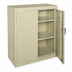 "Storage Cabinet, Tropic Sand, 42"" Overall Height, Assembled"