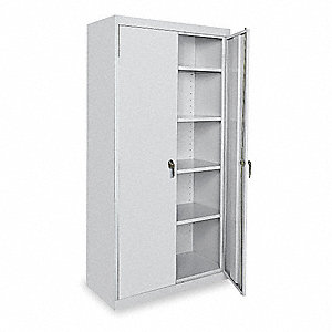 "Shelving Cabinet,78"" H,36"" W,Dove Gray"