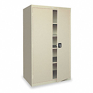 "Commercial Storage Cabinet, Dove Gray, 72"" H X 36"" W X 24"" D, Assembled"