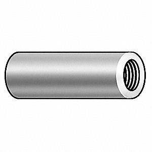 "1/2"" Aluminum Round Standoff with Plain Finish&#x3b; PK10"