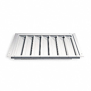 "24"" Whole House Fan Premium Ceiling Shutter / Ceiling Shutter, 24"" x 24"" Opening Required"