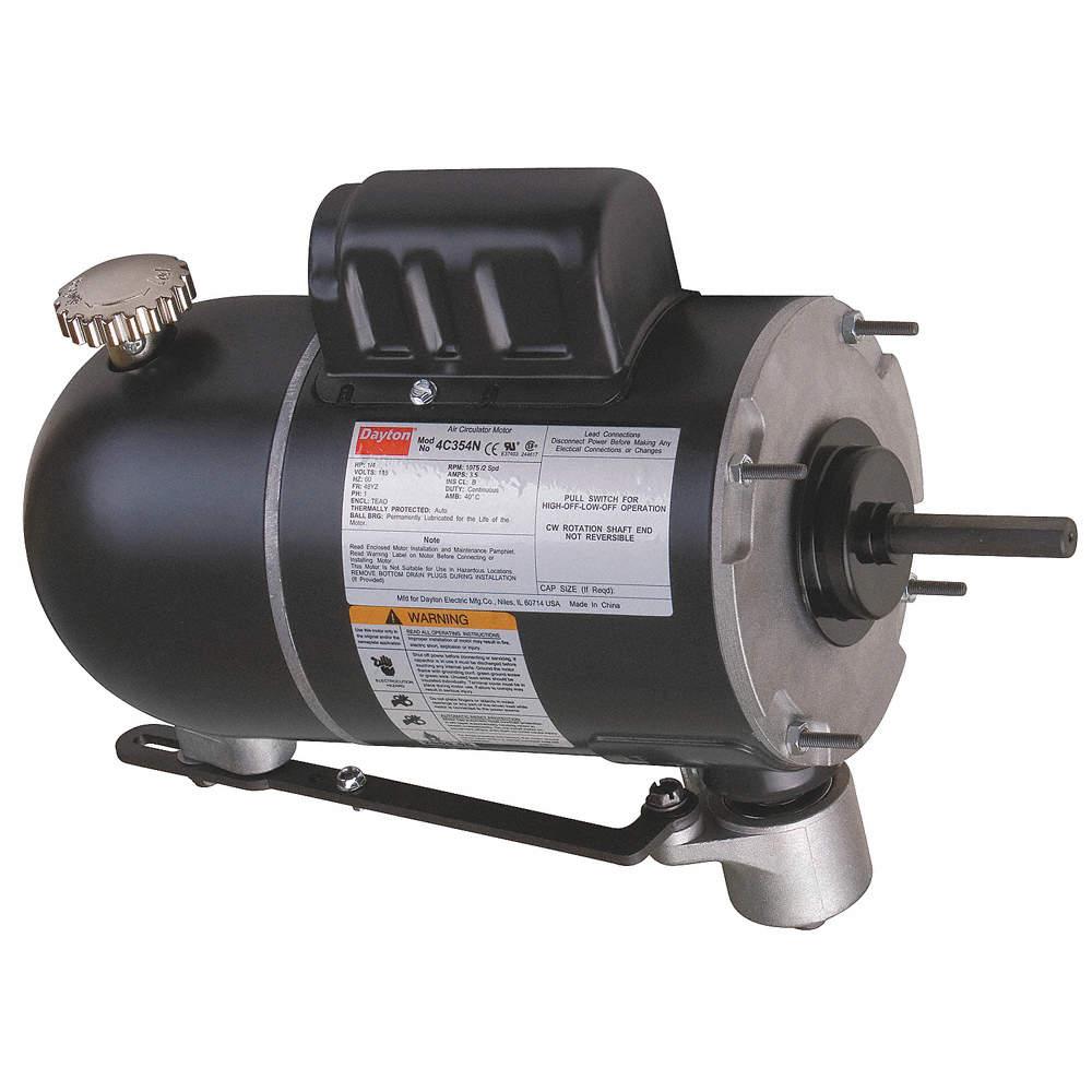 4C354_AS01?$zmmain$ dayton 1 4 hp oscillating fan motor, permanent split capacitor, 1075