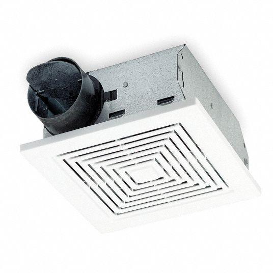 Broan 7 1 4 In X 7 1 2 In X 3 5 8 In Low Profile Bathroom Fan 50 Cfm Cfm 0 9 Amps 4c374 688 Grainger