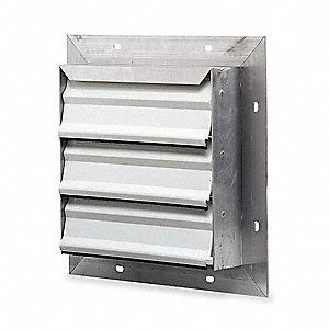 "12"" Backdraft Damper / Wall Shutter, 12-1/2"" x 12-1/2"" Opening Required"