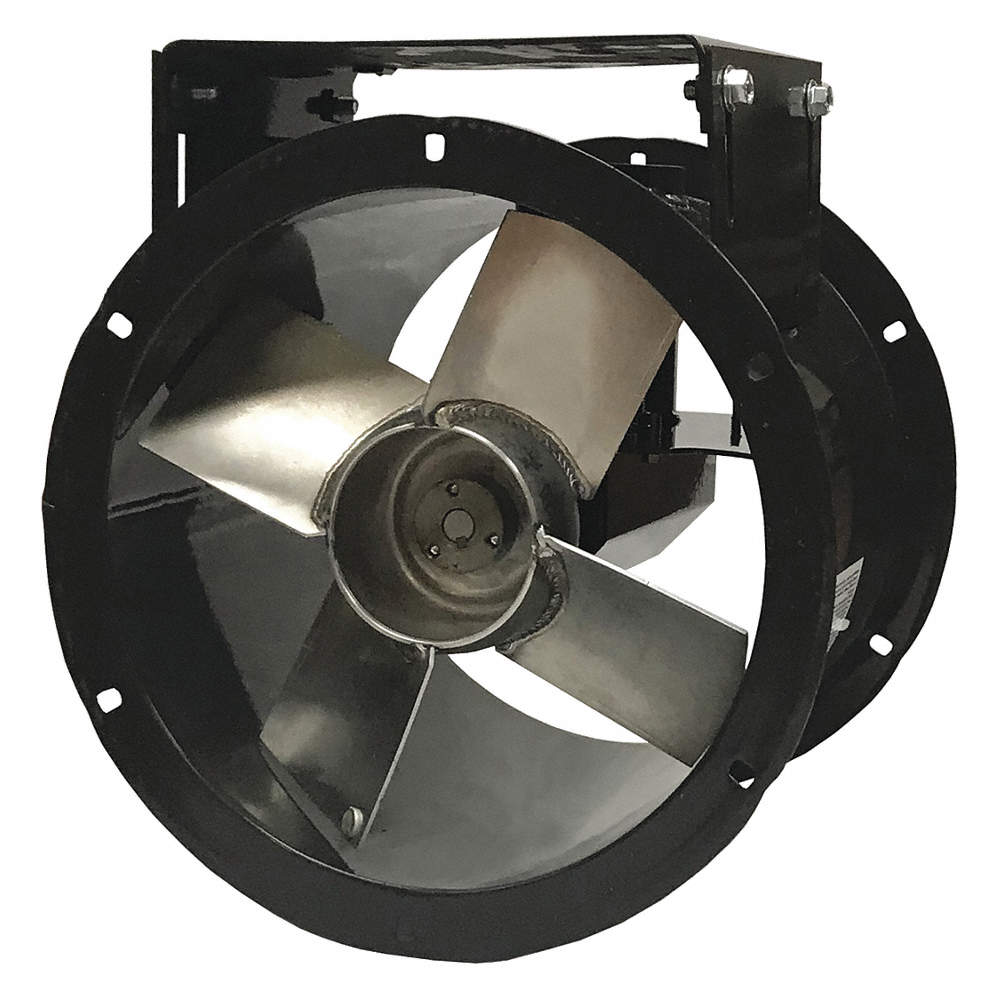 12 Capacitor Start Tubeaxial Fan With Motor And Drive Package 115230v 2877 Fan Rpm