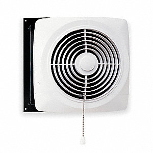 Broan Exhaust Fan Kitchen Wall Chain Operated Steel Adj 4 1 2 To 9 1 2 Housing Length In