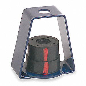 Hanger Mount Vibration Isolator, Neoprene Isolator Type, 190 to 380 lb. Capacity Range