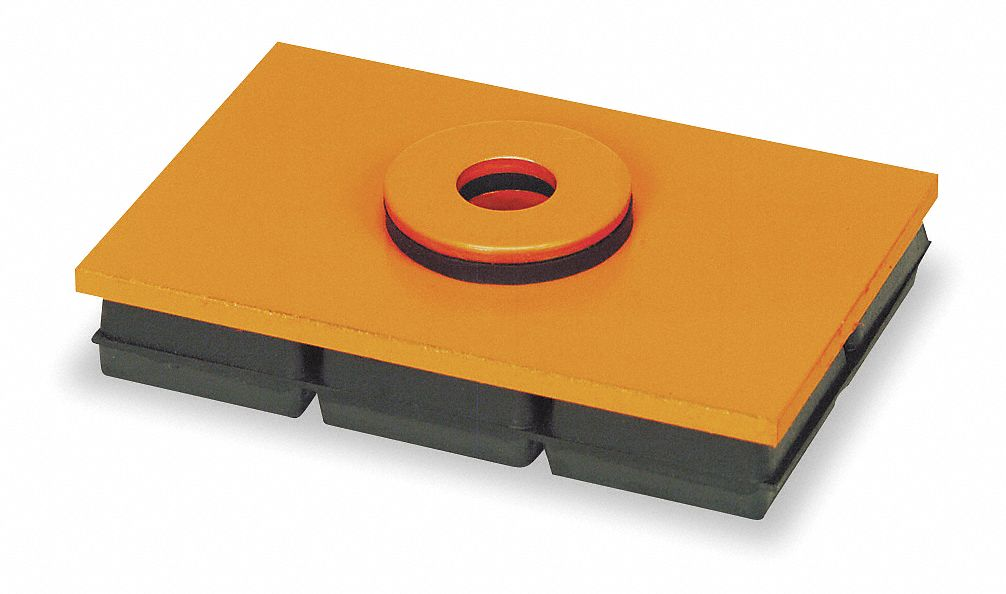 6 Length Package of 4 Steady Load 3//4 Height Nitrile Vibration Isolation Pad 6 Width 14,000 lb Max AIRLOC