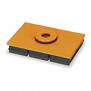 Vibration Iso Pad,4x4x1 In,w/Hole