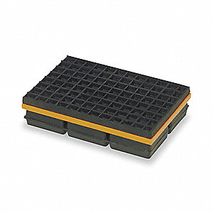 Vibration Isolation Pad,10x12x1 1/4 In