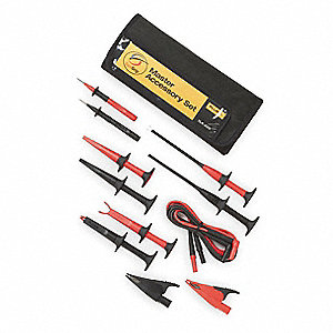 Modular Test Lead Kit, For Use With Multimeters and Clamp On Ammeters