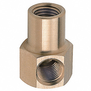 "Brass Hex Elbow, FNPT, 1/4"" Pipe Size,  1 EA"