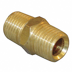 "1"" x 2-11/32"" Brass Nipple, Hex, Conversion"