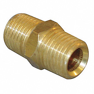 "Chrome Plated Brass Hex Nipple, MBSPT, 3/8"" Pipe Size"