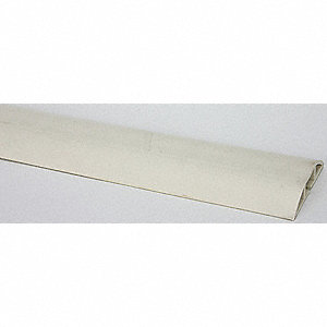 "Cable Protector, 1-Channel, Beige, 5 ft. x 3/4""H, Max. Cable Dia.: 1/2"""