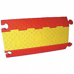 Cable Protector, Red and Yellow, Connection Style: Mushroom, Load Capacity: 14,000 lb.