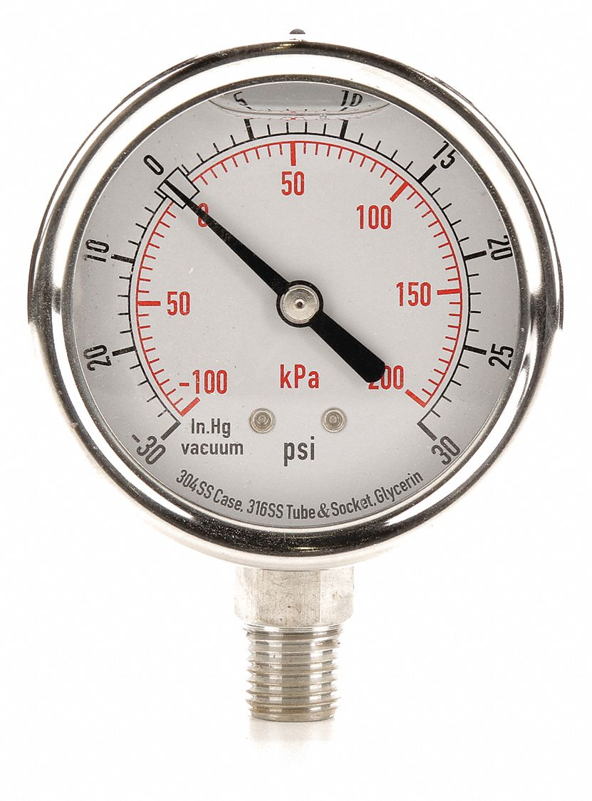 Range Vac to 30 PSI Compound Transducer