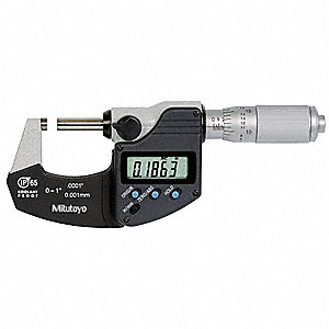 "Ratchet Thimble Digital Micrometer, 0 to 1""/0 to 25mm Range (In./mm)"