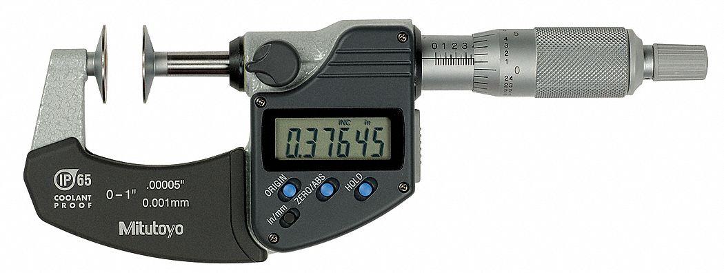 """Mitutoyo 350-354-30 Digital Micrometer Head 0-1/""""//0-25.4mm,C//NUT SPC"""