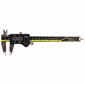 "Digital Caliper 0-6""/0-150mm Range, 0.0005""/0.01mm Resolution, Stainless Steel"