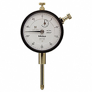 "Continuous Reading Dial Indicator, AGD 2, 2.240"" Dial Size, 0 to 1"" Range"