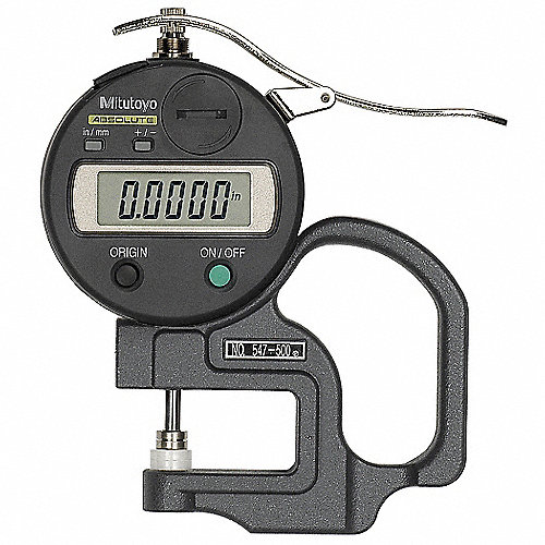 Jimdary Espesor Calibrador Vernier Medidor de Espesor Medidor de Espesor Digital Espesor de Chapa port/átil para medir el Grosor del Papel