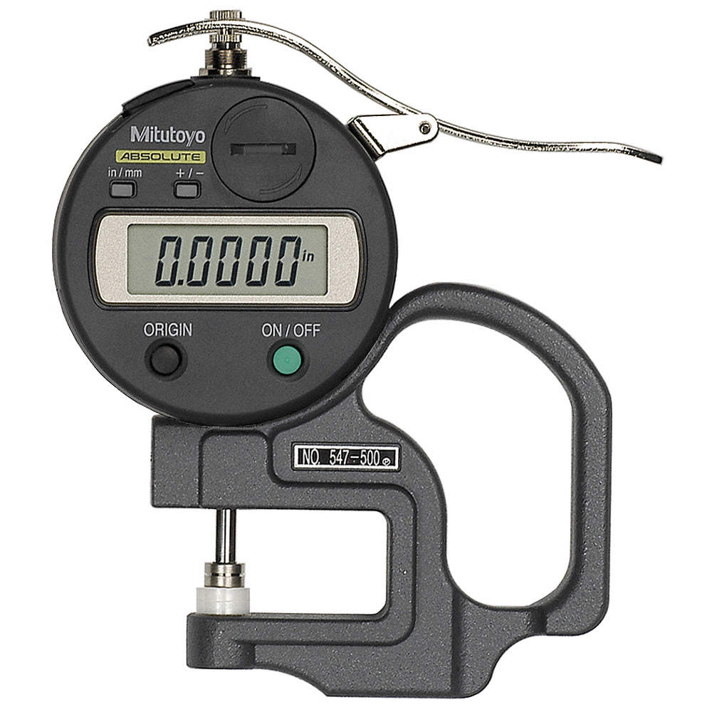 MITUTOYO 547-500S Digimatic Thickness Gage,0 to 0.470In