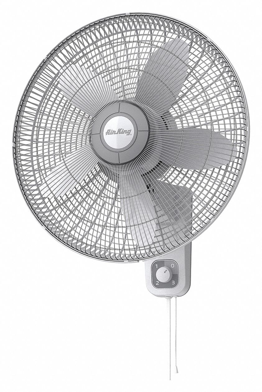 Air King 18 In Wall Mount Fan Oscillating 120v Ac Number Of Speeds 3 4ch64 9018 Grainger