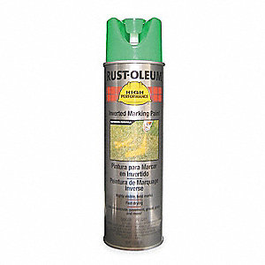 Fluorescent Green Inverted Striping Paint, Water Base Type, 15 oz.
