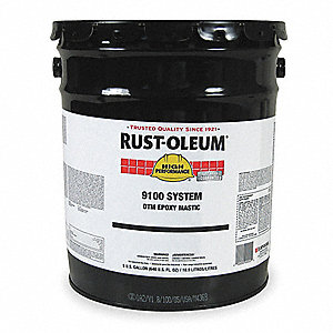 Silver Gray Epoxy Mastic Coating, Gloss Finish, 125 to 225 sq. ft./gal Coverage, Size: 5 gal.