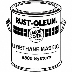 Tile Red Urethane Mastic, Gloss Finish, 160 to 280 sq. ft./gal. Coverage, Size: 1 gal.