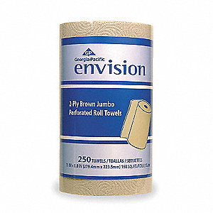 230 ft. 2-Ply Paper Towel Roll, Brown&#x3b; PK12