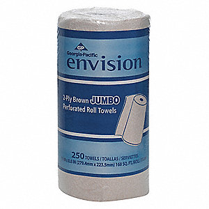 Envision® 230 ft. Perforated Roll, Brown, 12PK