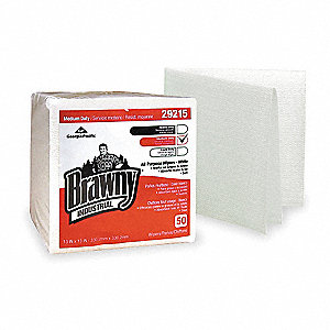 White Airlaid Disposable Wipes, Number of Sheets 50, Package Quantity 16