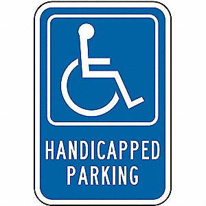 Text and Symbol Handicapped Parking, High Intensity Prismatic Recycled Aluminum Handicap Parking Sig