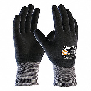 Coated Gloves,XL,Black/Gray,PR