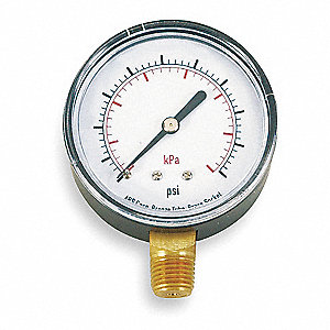 "2"" Test Pressure Gauge, 0 to 300 psi"