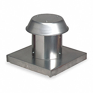 "11-7/8"" x 11-3/4"" Aluminum Roof Cap with 15-3/8 x 15-1/4 Flange Size (In.)"