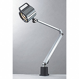 Task Light,Halogen,Gray,50W,120V