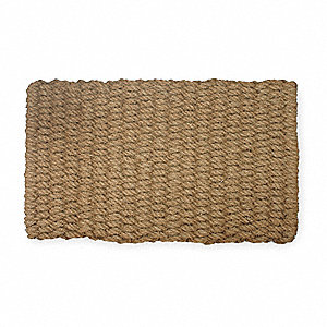 "Natural Coir Fiber, Entrance Mat, 18"" Width, 2 ft. 6"" Length"