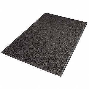 OUTDOOR MAT,BACKED,3 X 5 FT.,BLACK