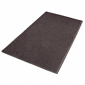 "Outdoor Entrance Mat, 6 ft. L, 4 ft. W, 3/8"" Thick, Rectangle, Brown"