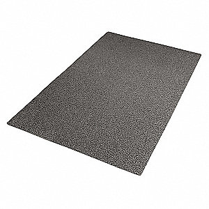 "Outdoor Entrance Mat, 5 ft. L, 3 ft. W, 1/2"" Thick, Rectangle, Gray"