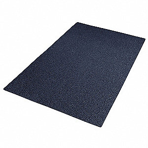 Carpeted Entrance Mat,Navy,3ft. x 5ft.