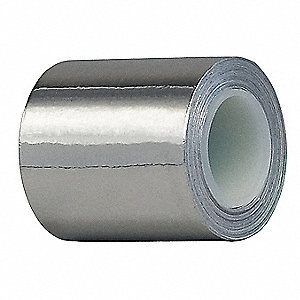 Foil Tape,6 In. x 5 Yd.,Shiny Silver