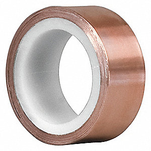 Shielding Foil Tape,2 In. x 6 Yd.,Copper