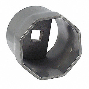 "3-1/2"" Steel Locknut Socket with 3/4"" Drive Size and Natural Finish"